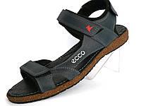 Мужские сандали лето натуральная кожа Ecco черный
