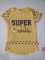 Футболка детская SUPER COOL для девочек MOCCIS от 5 до 8 лет., фото 1