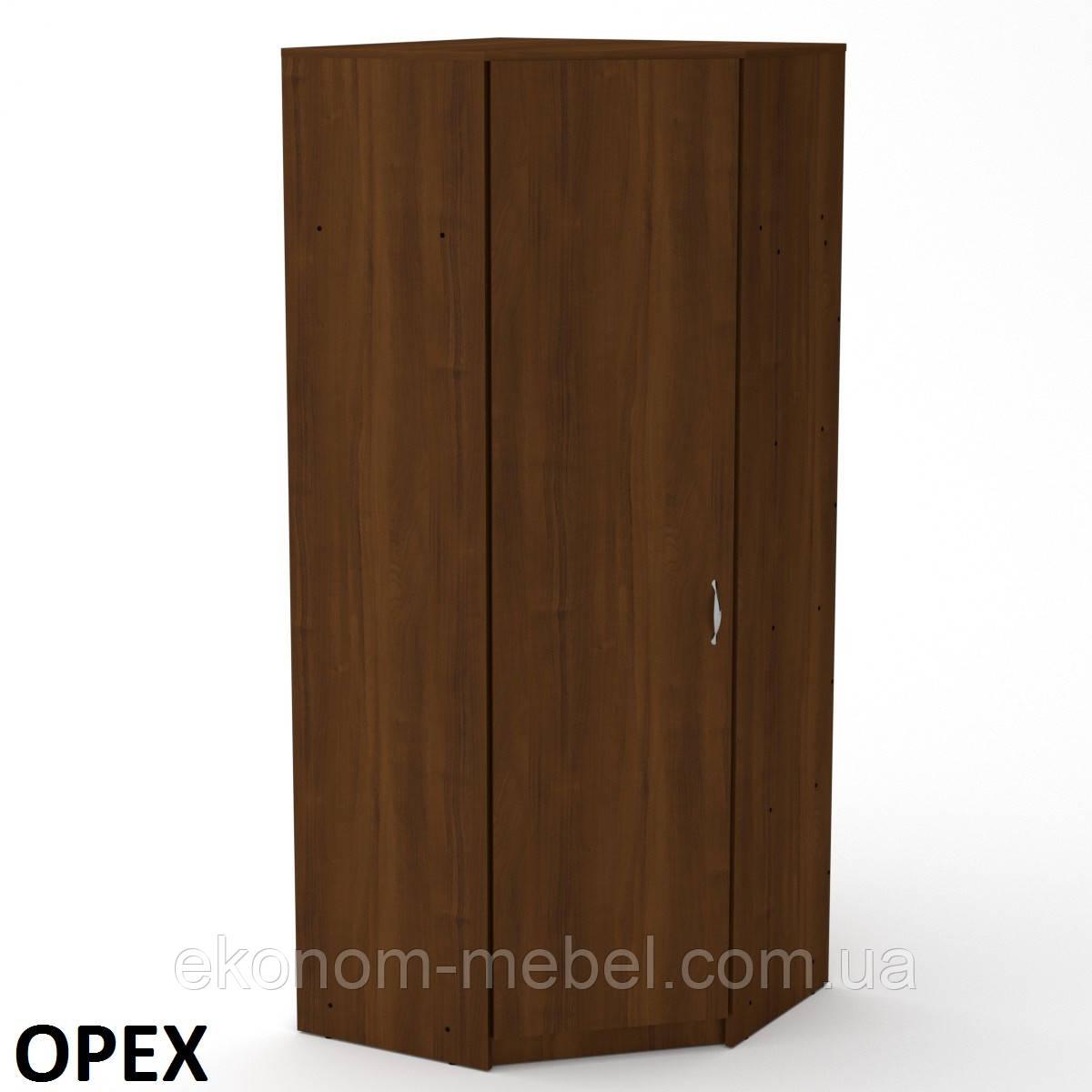 Шкаф угловой 3У для дома с полками и штангой для вешалок