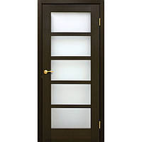 Двері натуральний шпон Відень ПО венге FL, фото 1