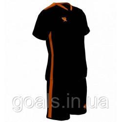 Футбольная форма PRIORITET (черный-н.оранжевый)