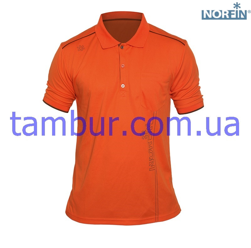 Футболка Norfin Polo ORANGE (охота, рыбалка, туризм)