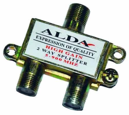 Разветвитель (Splitter) 2-way Alda, корпус металлический