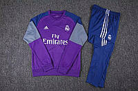 Костюм Реал Fly Emirates синие штаны (фиолетовый)
