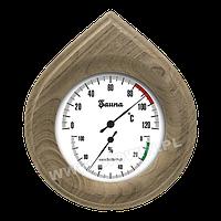 Термометр/Гигрометр деревянный для сауны 160x140