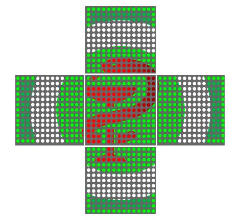 Аптечный крест Flylights Полноцвет 64