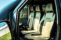 "Авто чехлы MERSEDES-BENZ Vito 638 (1+1) ""Алькантара Бежевый"" 1995-2003"