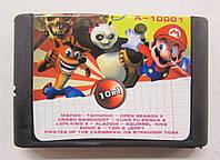 Картридж сборник игр Сега 16 бит A-10001(русская версия)10 IN 1