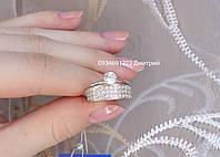 Изысканное серебряное кольцо Два в одном