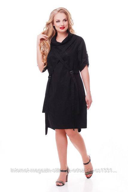 Рубашка-платье женское Берта черное