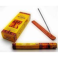 Ароматные палочки Мирра для дома и медитации шестигранники Darshan церковные