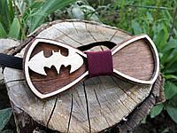 Деревянная бабочка галстук Ободок Бетмен ручной работы, серия Fantasy