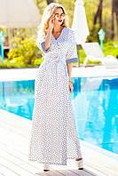 Красивое платье-халат с запахом с шикарным поясом, крой кимоно