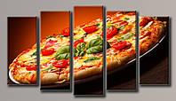 Картина модульная на холсте Пицца 71*128(5) см.