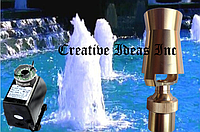 Насос для фонтана с подсветкой и насадкой Ледяная башня