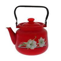 Чайник эмалированный 3,5л Красная лилия 2713/4 Epos