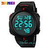 Спортивные часы SKMEI 1068 черные с красным