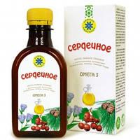 Сердечное масло, льняное масло с экстрактами живицы и плодов калины - 0,2 л.