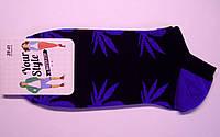 Носки мужские в канаплю низкие темно-синего цвета