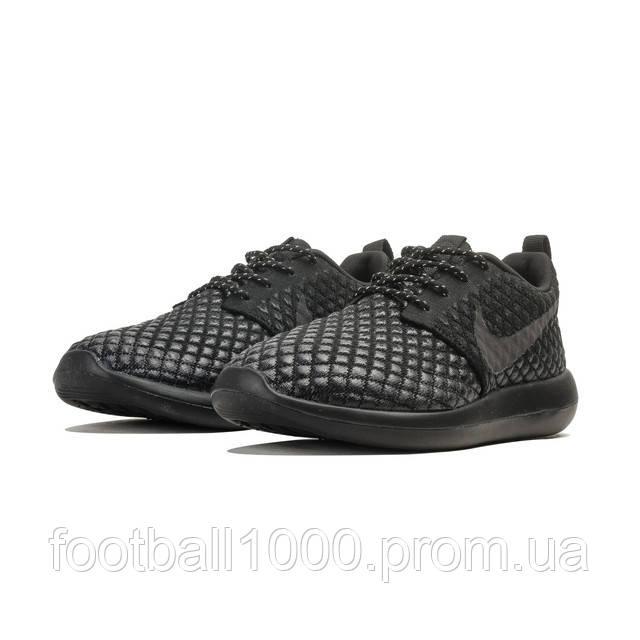 Кроссовки мужские Nike Roshe 2 Two Flyknit 365 Rosherun Triple Black 859535- 001 8fd2134bf