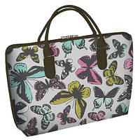 """Сумка саквояж женская весеннее время с принтом """"Бабочки"""" ,сумки женские дропшиппинг"""