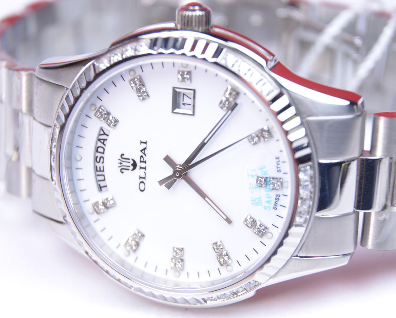 Стильные женские кварцевые водостойкие наручные часы OLIPAI JT9029-SD-SWSilver