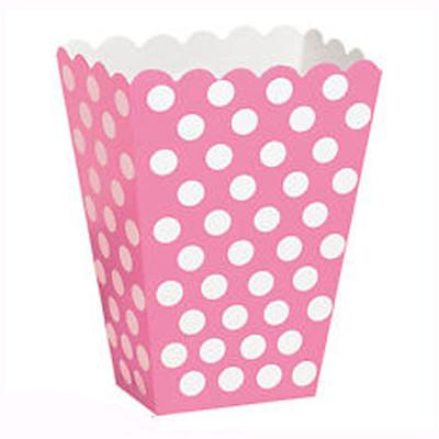 Коробочка для попкорна розовая