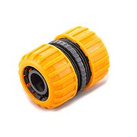 Соединение шлангов для полива 5818: для трубы 3/4, износоустойчивый пластик, orange/green, 25 шт.