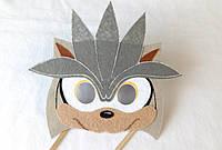 Карнавальная маска  для сюжетно ролевых детских игр Соник