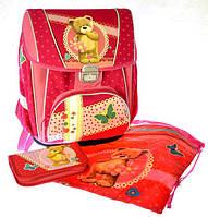 """Набор PREMIUM-C: рюкзак-коробка+мешок для обуви+пенал плоский """"Мишка"""""""