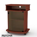 Тумба под телевизор Карат-2 высокая, на колесах, фото 4