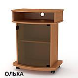 Тумба под телевизор Карат-2 высокая, на колесах, фото 7