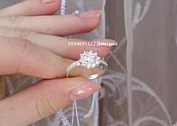 Блискуче срібне кільце з квіточкою, фото 1