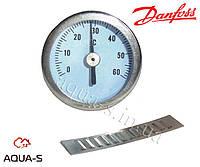 Термометр накладной в металлическом корпусе (Ø 35 mm.) 0-60° С Danfoss FHD-T