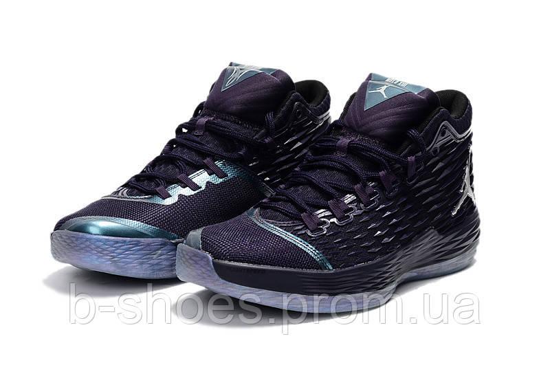 Мужские кроссовки Air Jordan Melo 13 (Purple Dynasty/Metallic Silver)