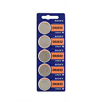 Батарейки Sony - Lithium CR2032 Li-Ion 3V 5/100/1000шт