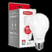 Лампа светодиодная MAXUS A70 15W 3000K 220V E27 (1-LED-567)
