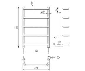 Электрический полотенцесушитель Mario Сандарт HP-I 650x430, фото 2