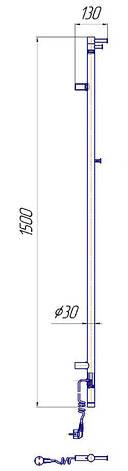Электрический полотенцесушитель Mario Рей Кубо-I 1500x30, фото 2