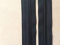 Молния рулонная спиральная YKK, размер № 5, черная, артикул СК 5119