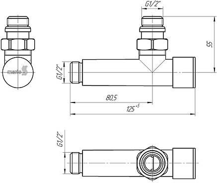 Кран угловой для полотенцесушителя, фото 2