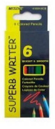 Карандаши цветные MARCO Superb Writer 4100Н-6СВ 6шт (9 см), фото 2