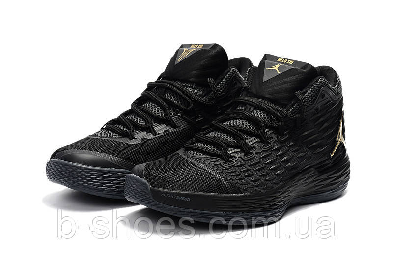 Мужские кроссовки Air Jordan Melo 13 (Black/Metallic Gold)