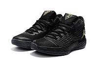 Мужские кроссовки Air Jordan Melo 13 (Black/Metallic Gold), фото 1