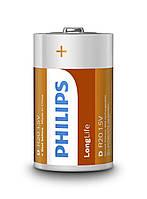 Батарейки Philips - Longlife D R2O 1.5V 2/24/288шт
