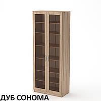 Шкаф-11 МДФ полочный, со стеклом, офисная модульная мебель