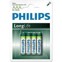 Батарейки Philips - Longlife ААА R03 1.5V 4/48/240шт