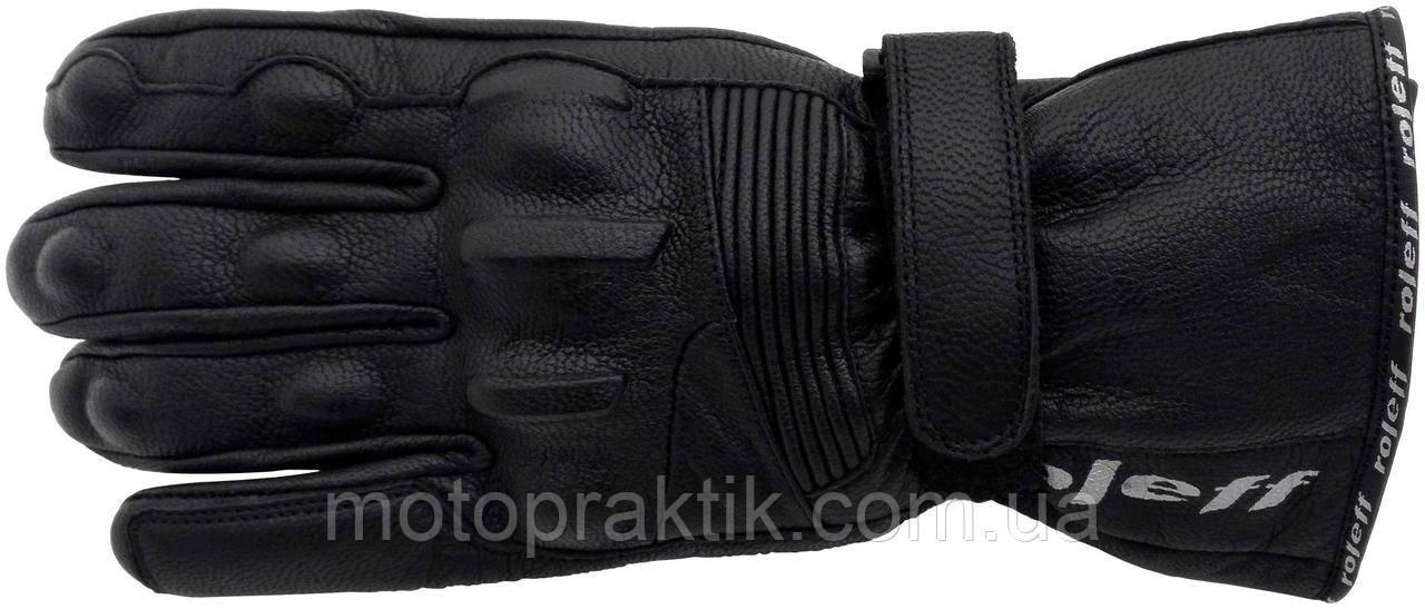 Roleff RO 44 Leather Gloves Black, S Мотоперчатки кожаные с защитой