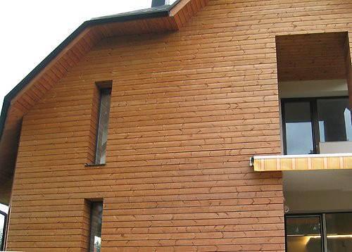 Так смотрятся деревянные фасады из термо сосны.