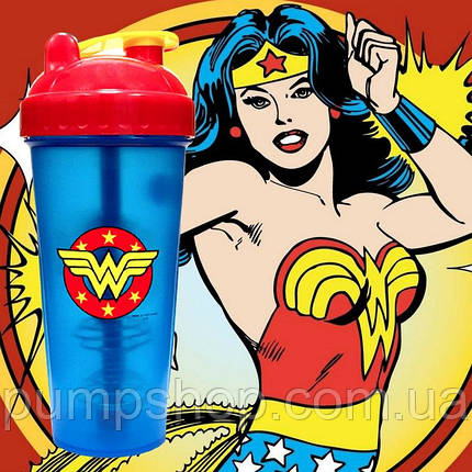 Шейкер PerfectShaker SuperHero Wonder Woman 800 мл, фото 2